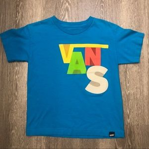 Vans Youth Boys Multicolor Logo Turqouise Large